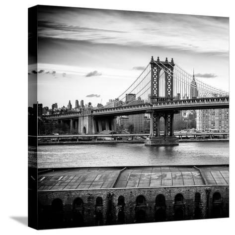 Manhattan Bridge with the Empire State Building from Brooklyn-Philippe Hugonnard-Stretched Canvas Print
