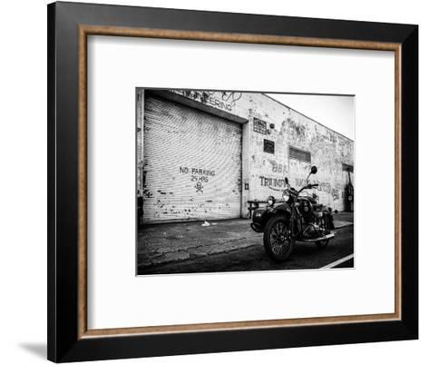 Motorcycle Garage in Brooklyn-Philippe Hugonnard-Framed Art Print