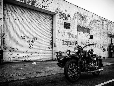 Motorcycle Garage in Brooklyn-Philippe Hugonnard-Stretched Canvas Print