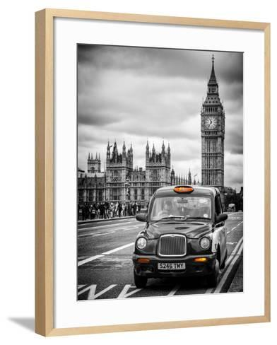 London Taxi and Big Ben - London - UK - England - United Kingdom - Europe-Philippe Hugonnard-Framed Art Print