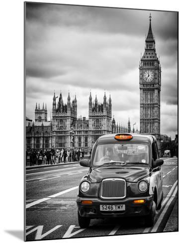 London Taxi and Big Ben - London - UK - England - United Kingdom - Europe-Philippe Hugonnard-Mounted Photographic Print