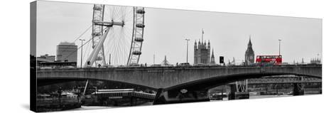 Waterloo Bridge and London Eye - Big Ben and Millennium Wheel - River Thames - City of London - UK-Philippe Hugonnard-Stretched Canvas Print