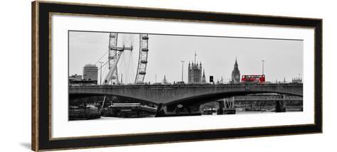 Waterloo Bridge and London Eye - Big Ben and Millennium Wheel - River Thames - City of London - UK-Philippe Hugonnard-Framed Art Print