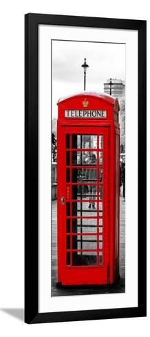 Red Telephone Booths - London - UK - England - United Kingdom - Europe - Door Poster-Philippe Hugonnard-Framed Art Print