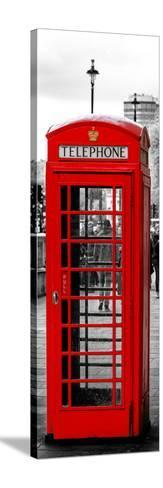 Red Telephone Booths - London - UK - England - United Kingdom - Europe - Door Poster-Philippe Hugonnard-Stretched Canvas Print