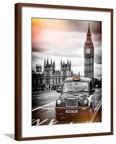 London Taxi and Big Ben - London - UK - England - United Kingdom - Europe-Philippe Hugonnard-Framed Art Print