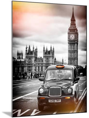 London Taxi and Big Ben - London - UK - England - United Kingdom - Europe-Philippe Hugonnard-Mounted Photographic Print