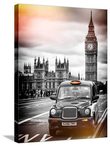 London Taxi and Big Ben - London - UK - England - United Kingdom - Europe-Philippe Hugonnard-Stretched Canvas Print