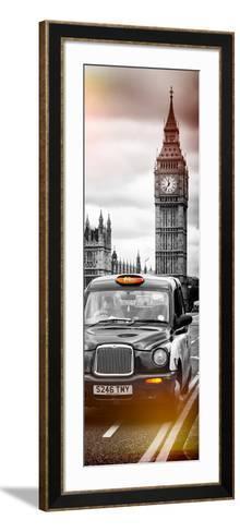 London Taxi and Big Ben - London - UK - England - United Kingdom - Europe - Door Poster-Philippe Hugonnard-Framed Art Print