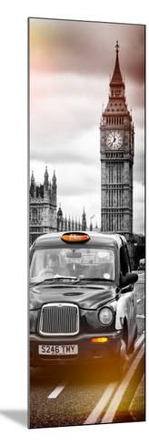 London Taxi and Big Ben - London - UK - England - United Kingdom - Europe - Door Poster-Philippe Hugonnard-Mounted Photographic Print