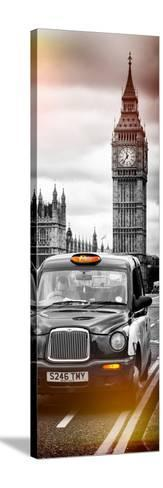 London Taxi and Big Ben - London - UK - England - United Kingdom - Europe - Door Poster-Philippe Hugonnard-Stretched Canvas Print