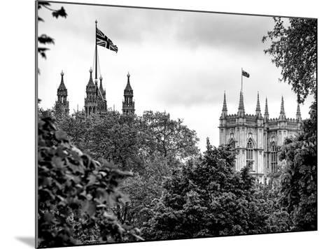 St James's Park with Flags Floating over the Rooftops of the Palace of Westminster - London-Philippe Hugonnard-Mounted Photographic Print