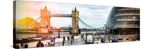 Moment of Life to City Hall with Tower Bridge - City of London - UK - England - United Kingdom-Philippe Hugonnard-Stretched Canvas Print