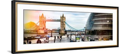 Moment of Life to City Hall with Tower Bridge - City of London - UK - England - United Kingdom-Philippe Hugonnard-Framed Art Print