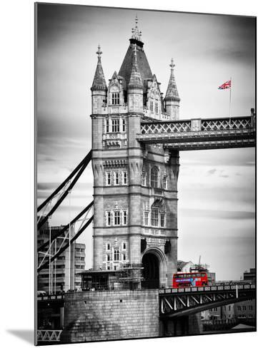 Tower Bridge with Red Bus in London - City of London - UK - England - United Kingdom - Europe-Philippe Hugonnard-Mounted Photographic Print