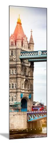 Tower Bridge with Red Bus in London - City of London - UK - England - United Kingdom - Door Poster-Philippe Hugonnard-Mounted Photographic Print