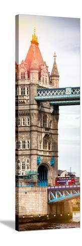 Tower Bridge with Red Bus in London - City of London - UK - England - United Kingdom - Door Poster-Philippe Hugonnard-Stretched Canvas Print