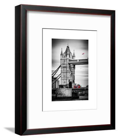 Tower Bridge with Red Bus in London - City of London - UK - England - United Kingdom - Europe-Philippe Hugonnard-Framed Art Print