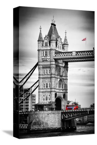 Tower Bridge with Red Bus in London - City of London - UK - England - United Kingdom - Europe-Philippe Hugonnard-Stretched Canvas Print