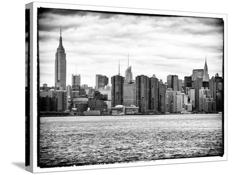Landscape View Manhattan with the Empire State Building and Chrysler Building - New York-Philippe Hugonnard-Stretched Canvas Print
