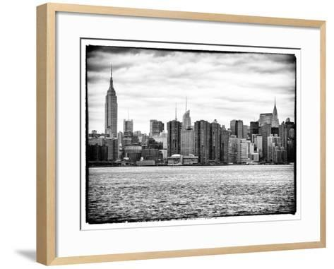 Landscape View Manhattan with the Empire State Building and Chrysler Building - New York-Philippe Hugonnard-Framed Art Print