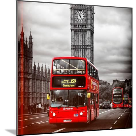 London Red Bus and Big Ben - City of London - UK - England - United Kingdom - Europe-Philippe Hugonnard-Mounted Photographic Print
