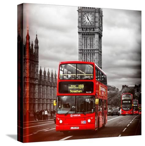 London Red Bus and Big Ben - City of London - UK - England - United Kingdom - Europe-Philippe Hugonnard-Stretched Canvas Print