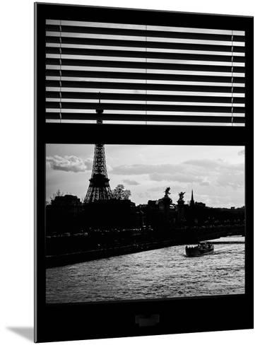 Window View - Color Sunset in Paris with the Eiffel Tower and the Seine River - France - Europe-Philippe Hugonnard-Mounted Photographic Print
