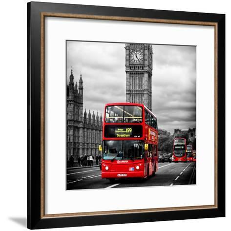 London Red Bus and Big Ben - City of London - UK - England - United Kingdom - Europe-Philippe Hugonnard-Framed Art Print