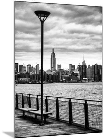 View of the Skyscrapers of Manhattan with the Empire State Building a Jetty in Brooklyn at Sunset-Philippe Hugonnard-Mounted Photographic Print