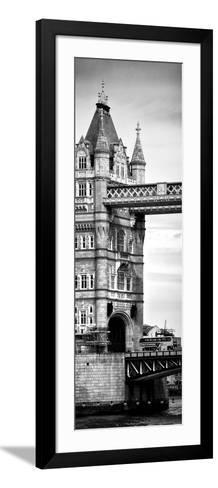 Tower Bridge with Red Bus in London - City of London - UK - England - United Kingdom - Door Poster-Philippe Hugonnard-Framed Art Print