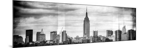 Instants of NY BW Series - Panoramic Landscape View Manhattan with the Empire State Building-Philippe Hugonnard-Mounted Photographic Print