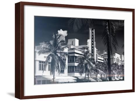 Instants of Series - Art Deco Architecture of Miami Beach - The Esplendor Hotel Breakwater-Philippe Hugonnard-Framed Art Print