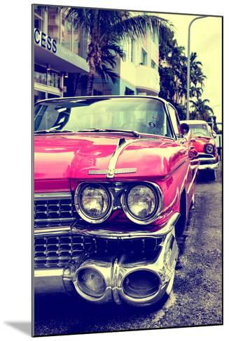 Classic Cars of Miami Beach-Philippe Hugonnard-Mounted Photographic Print