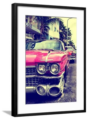 Classic Cars of Miami Beach-Philippe Hugonnard-Framed Art Print