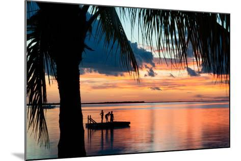 Sunset Landscape with Floating Platform - Florida-Philippe Hugonnard-Mounted Photographic Print