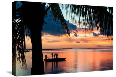 Sunset Landscape with Floating Platform - Florida-Philippe Hugonnard-Stretched Canvas Print