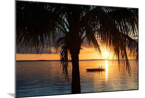 Sunset Landscape with Floating Platform - Miami - Florida-Philippe Hugonnard-Mounted Photographic Print