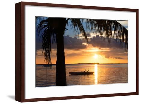 Sunset Landscape with Floating Platform - Miami - Florida-Philippe Hugonnard-Framed Art Print