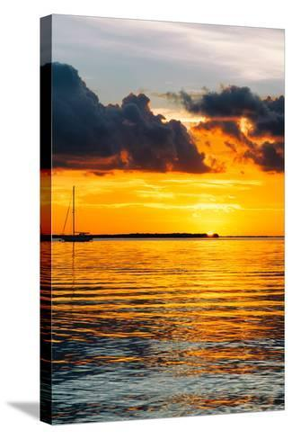 Sunset Landscape with a Yacht - Miami - Florida-Philippe Hugonnard-Stretched Canvas Print