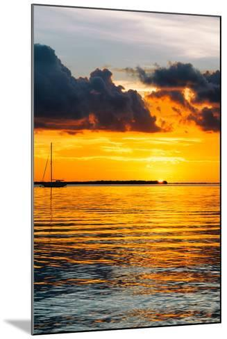 Sunset Landscape with a Yacht - Miami - Florida-Philippe Hugonnard-Mounted Photographic Print