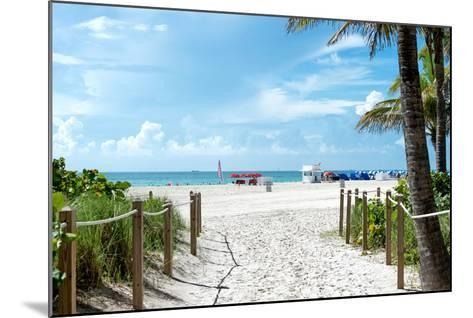 Boardwalk on the Beach - Miami Beach - Florida-Philippe Hugonnard-Mounted Photographic Print