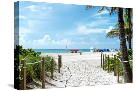 Boardwalk on the Beach - Miami Beach - Florida-Philippe Hugonnard-Stretched Canvas Print