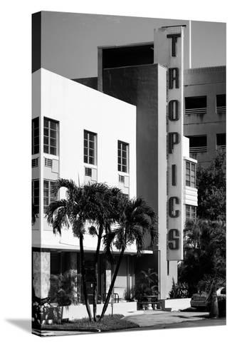 Art Deco Architecture of Miami Beach - The Tropics Hotel - Florida-Philippe Hugonnard-Stretched Canvas Print