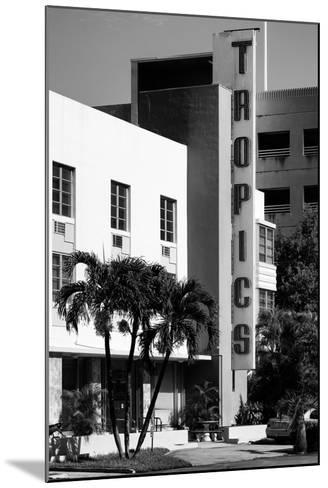Art Deco Architecture of Miami Beach - The Tropics Hotel - Florida-Philippe Hugonnard-Mounted Photographic Print