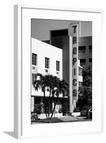 Art Deco Architecture of Miami Beach - The Tropics Hotel - Florida-Philippe Hugonnard-Framed Art Print