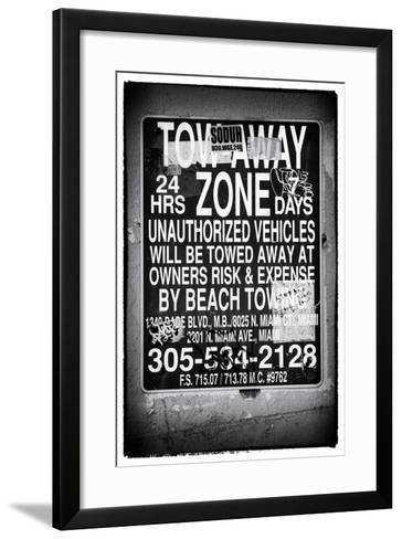 Miami Sign and Billboard - Miami Beach - Florida - USA-Philippe Hugonnard-Framed Art Print