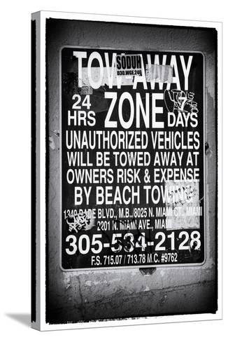 Miami Sign and Billboard - Miami Beach - Florida - USA-Philippe Hugonnard-Stretched Canvas Print