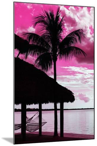 The Hammock and Palm Tree at Sunset - Beach Hut - Florida-Philippe Hugonnard-Mounted Photographic Print