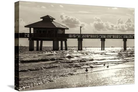 Fishing Pier Fort Myers Beach at Sunset - Florida-Philippe Hugonnard-Stretched Canvas Print
